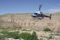 Havasupai Air Transport over canyon